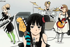 tsumugi ritsu yui mio group band playing